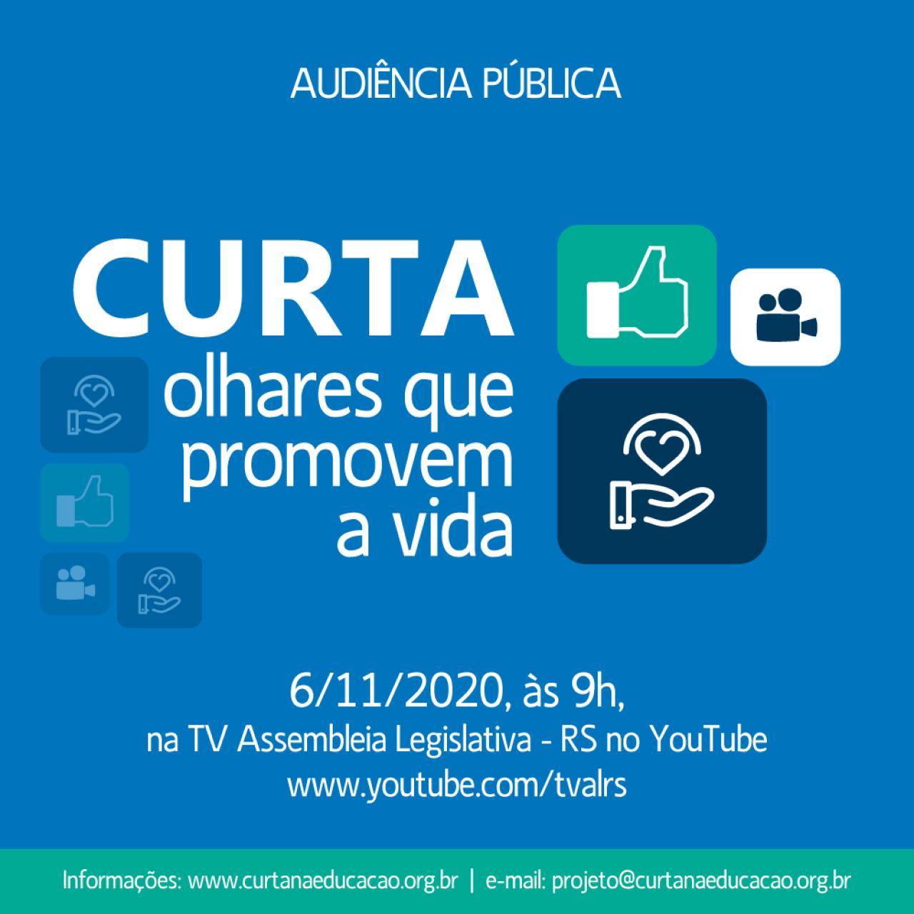 Audiência Pública Virtual - Curta olhares que promovem a vida