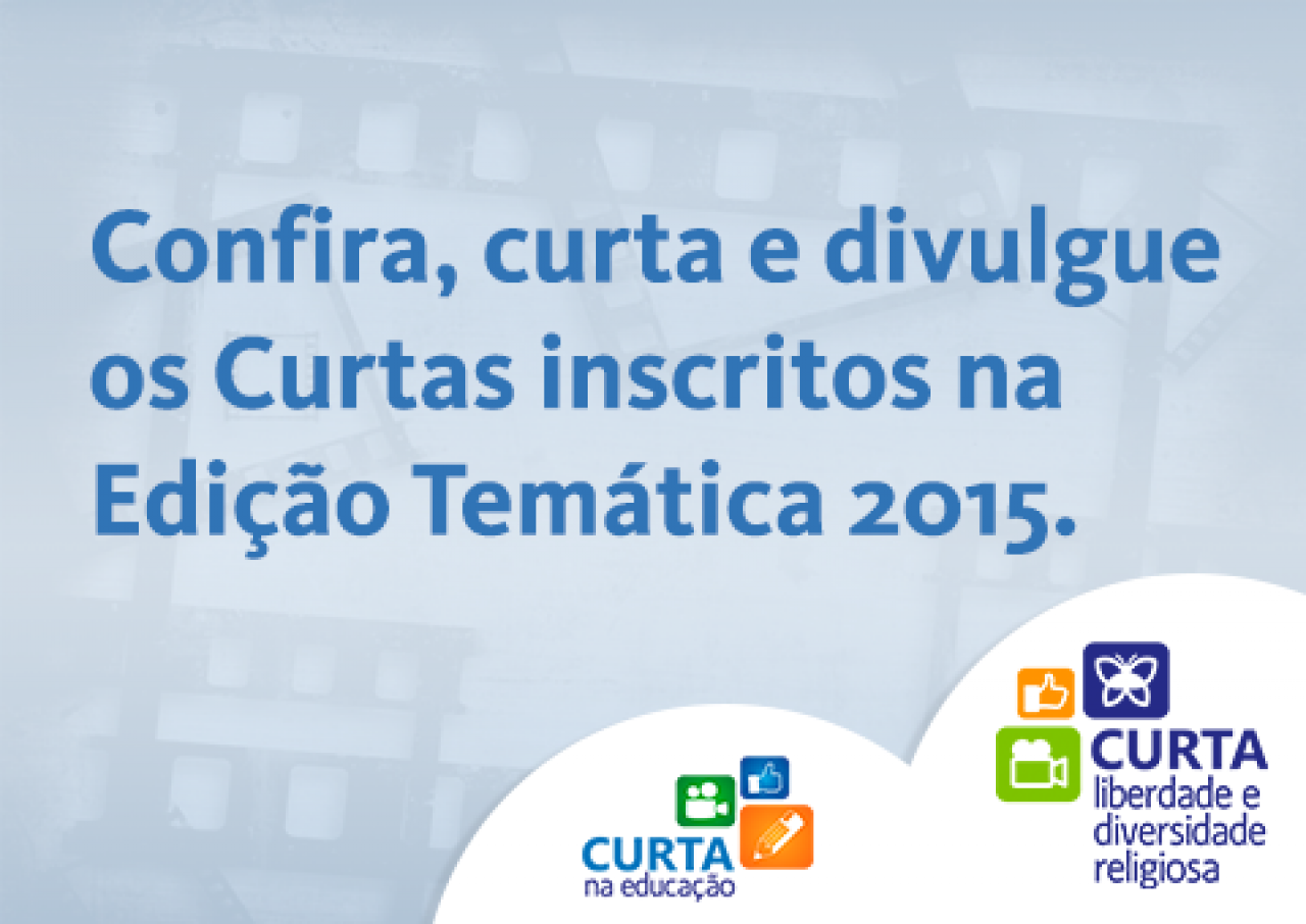 Inscritos no Concurso Cultural de Curtas 2015