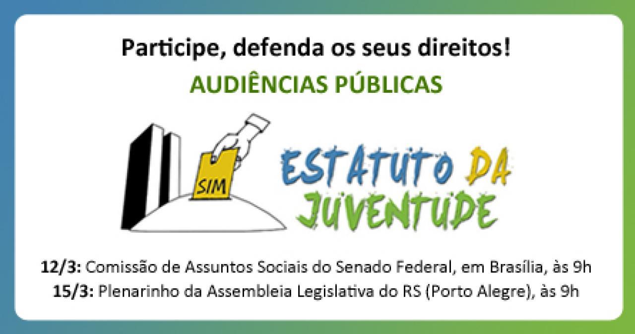 Audiências Públicas sobre o Estatuto da Juventude